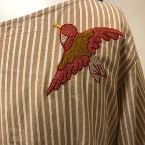 eshakti Dresses - New eShatki Pinstriped Embroidered Dress 24W